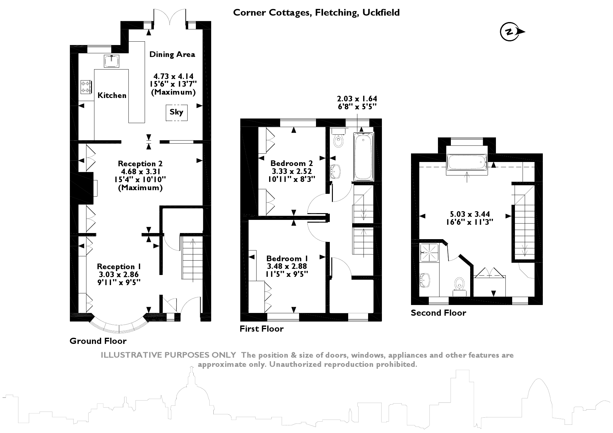 Corner Cottages, Fletching, TN22 floor plan