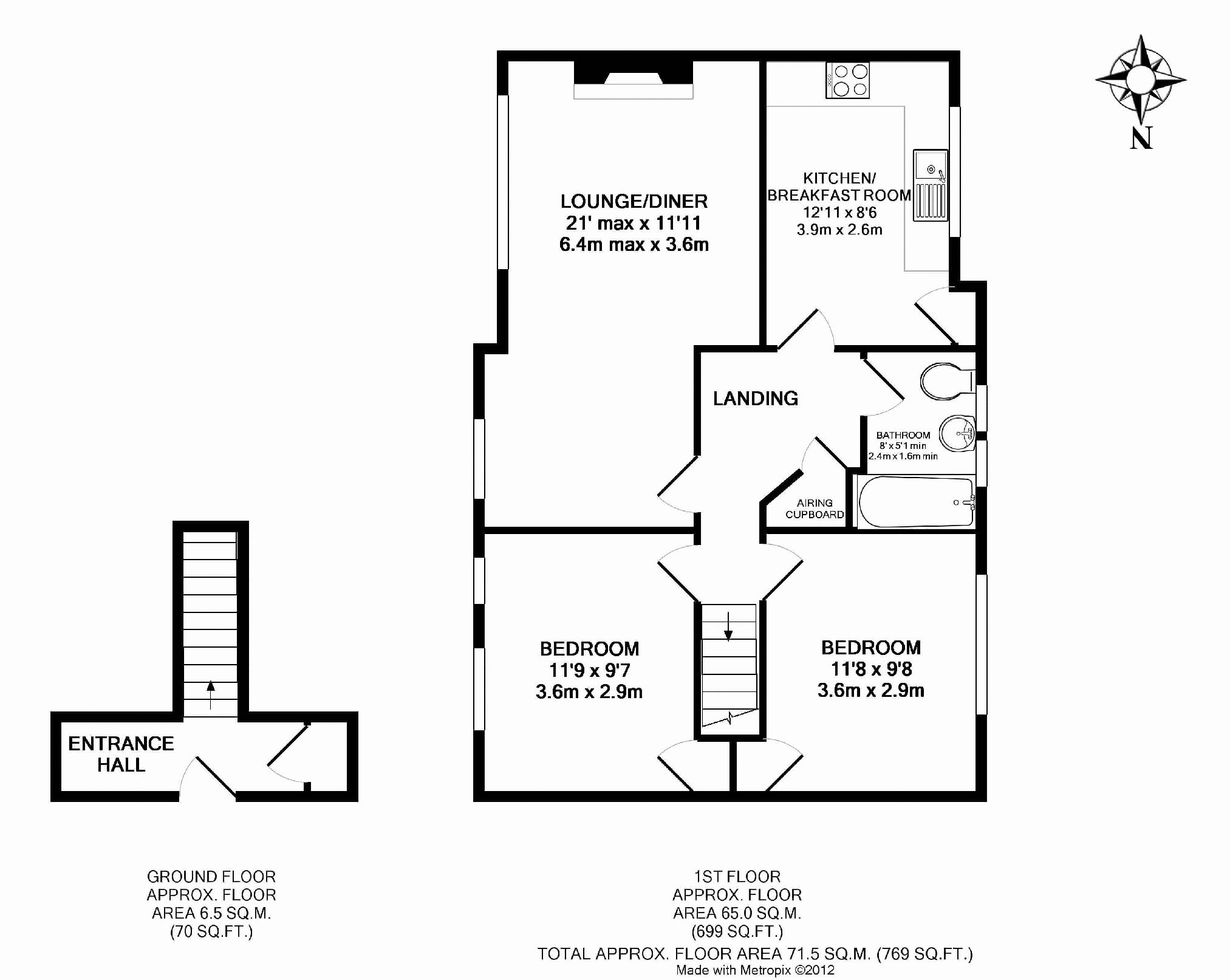 Rosebery Avenue, Hythe floor plan