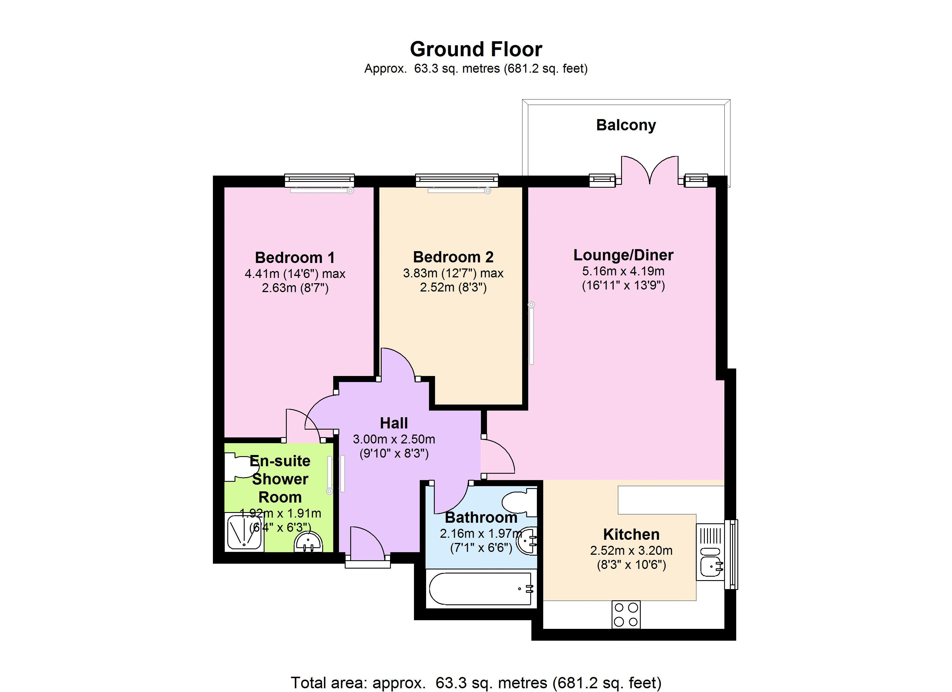 Butterfield House, Berber Parade, SE18 floor plan