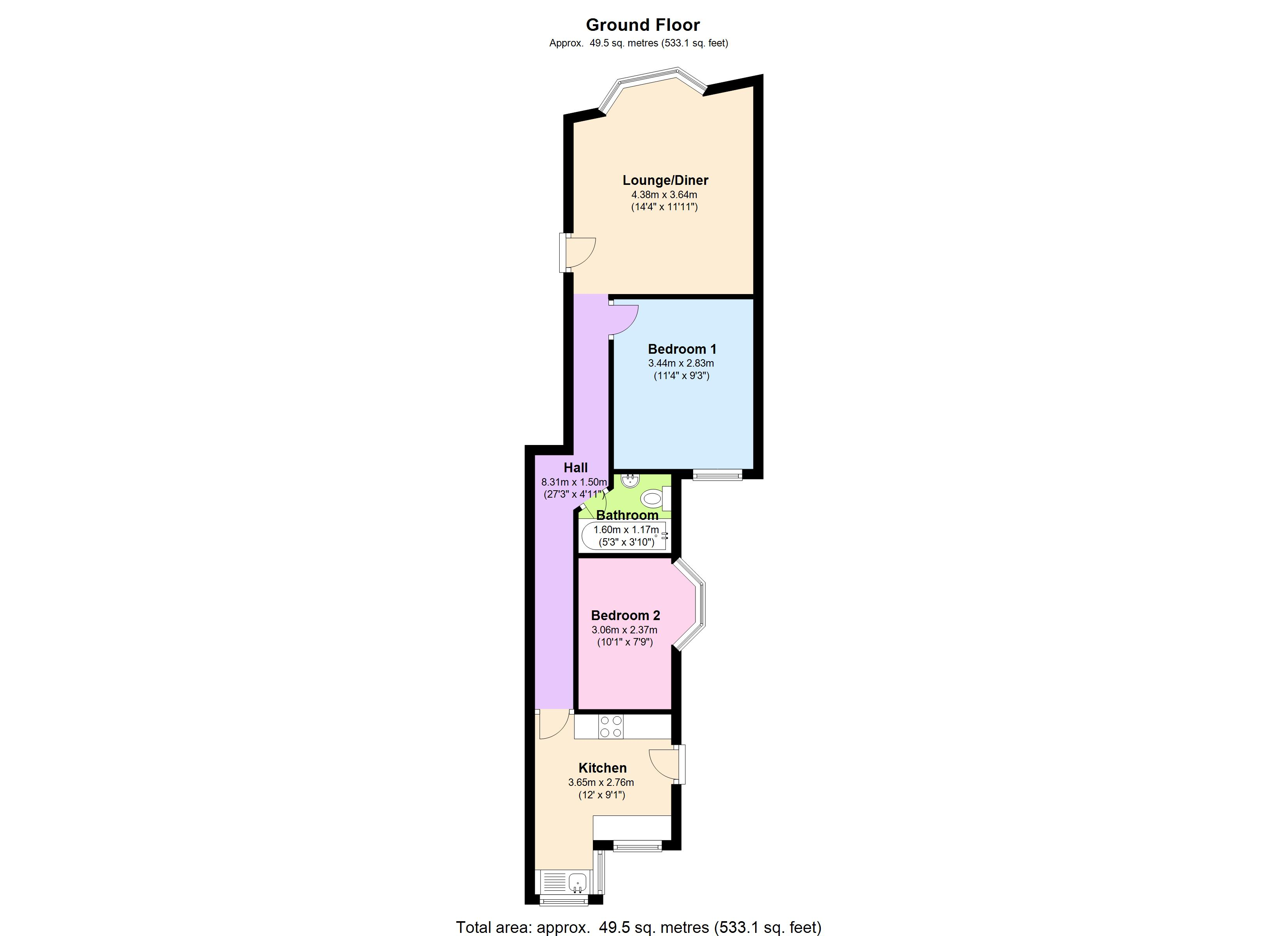 Cann Hall Road, London, E11 floor plan
