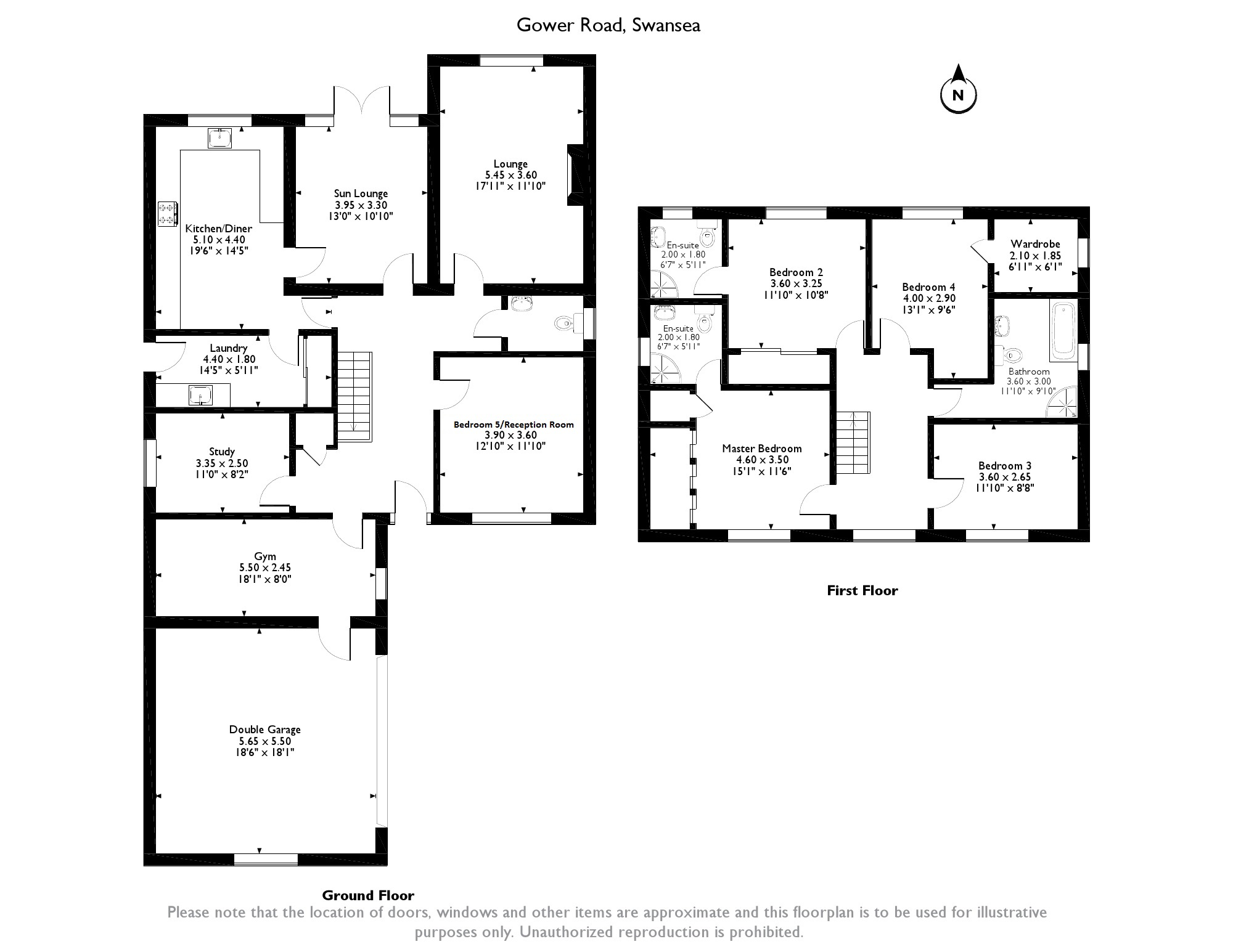 Gower Road,Swansea, SA2 floor plan