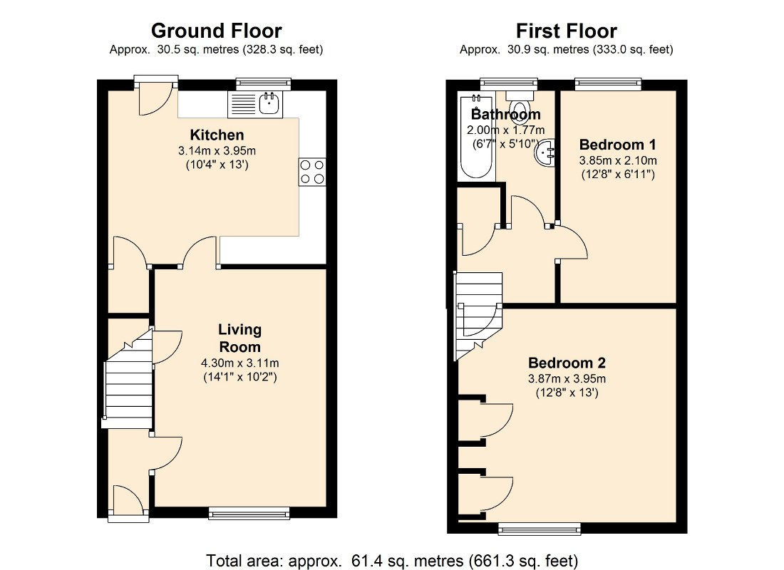 Hague Park Walk,South Kirkby.WF9 floor plan