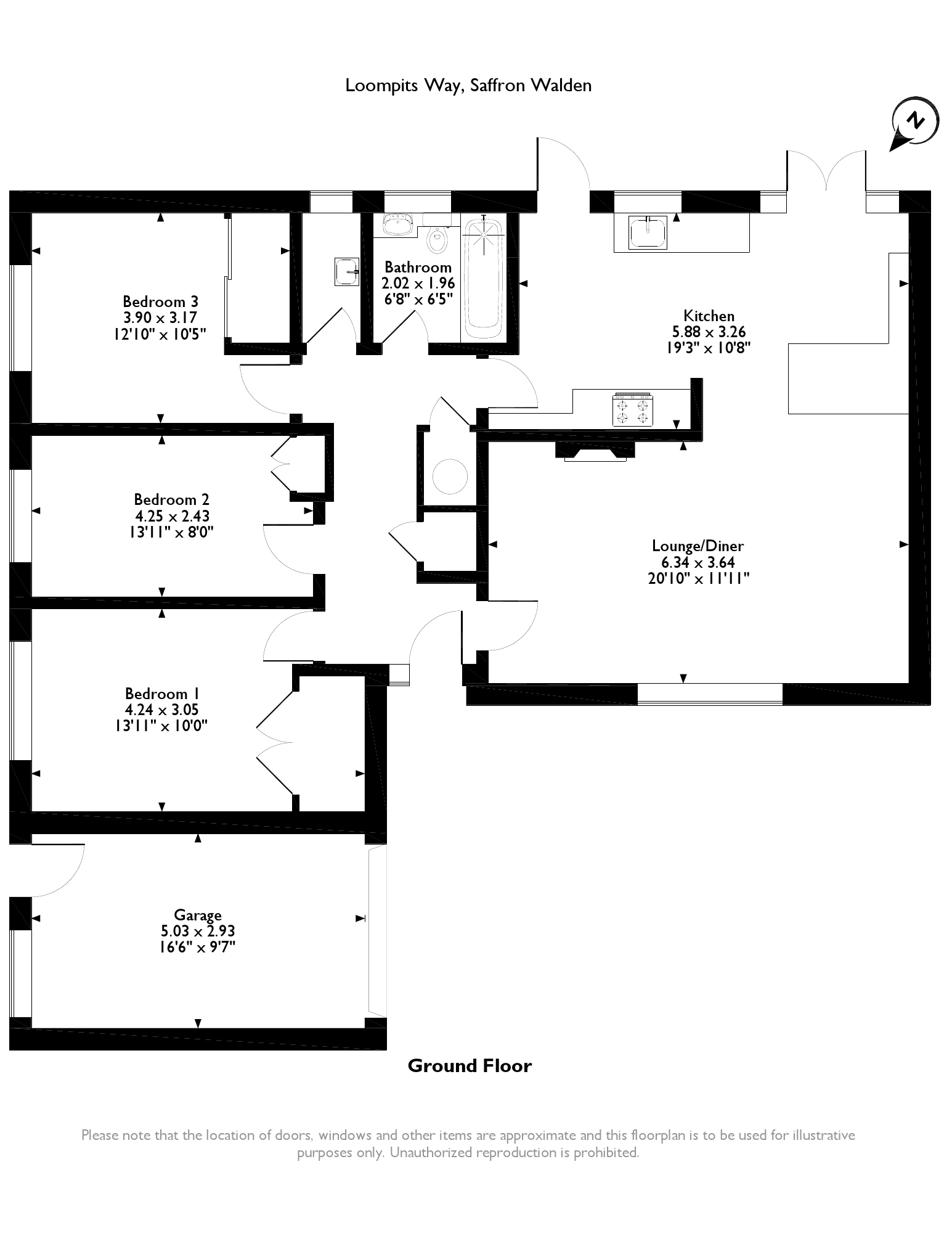 Loompits Way, Saffron Walden, CB11 floor plan