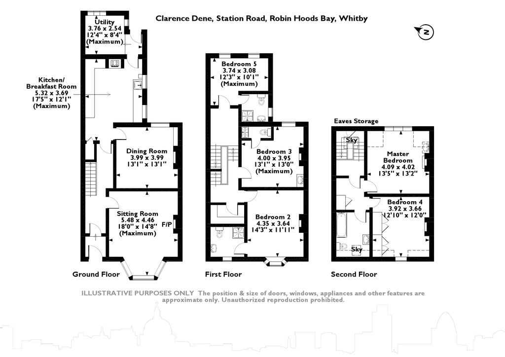Clarence Dene Station Road, Whitby, North Yorkshire floor plan