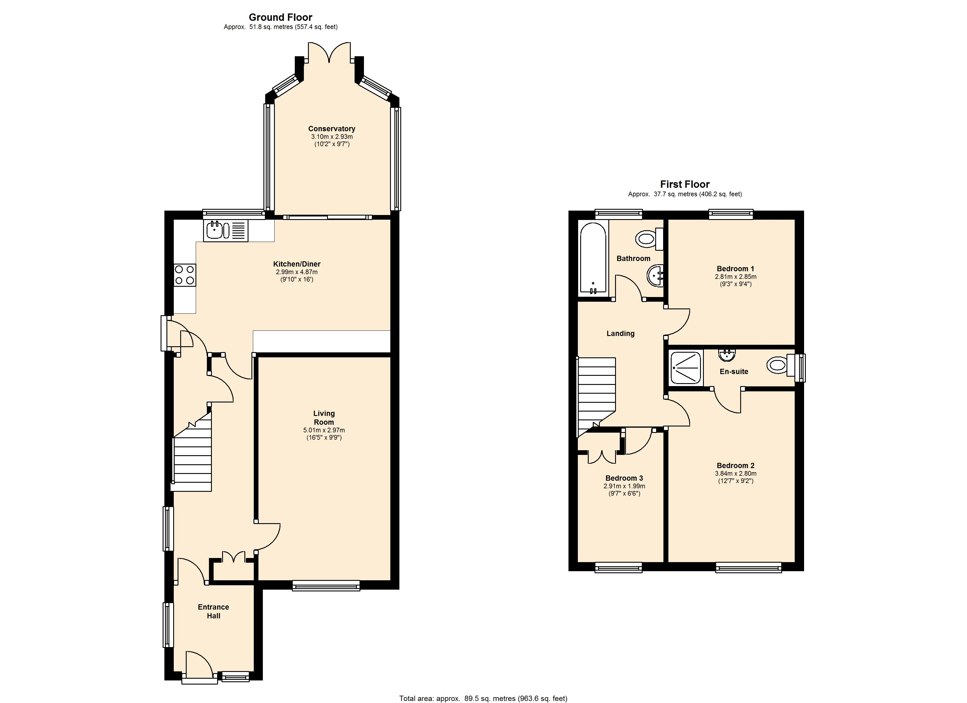 Mendip Avenue, Lindley, Huddersfield, HD3 floor plan