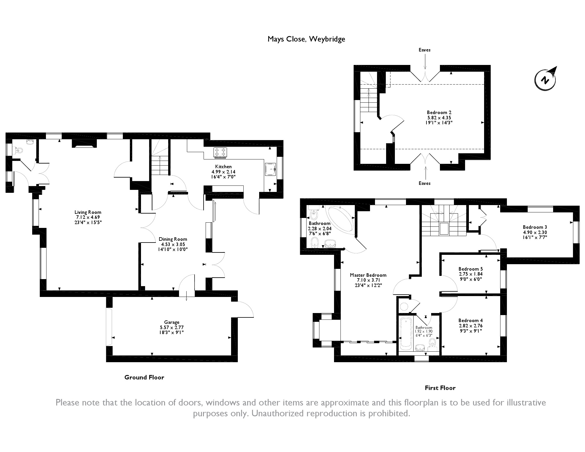 Mays Close, Weybridge, KT13 floor plan