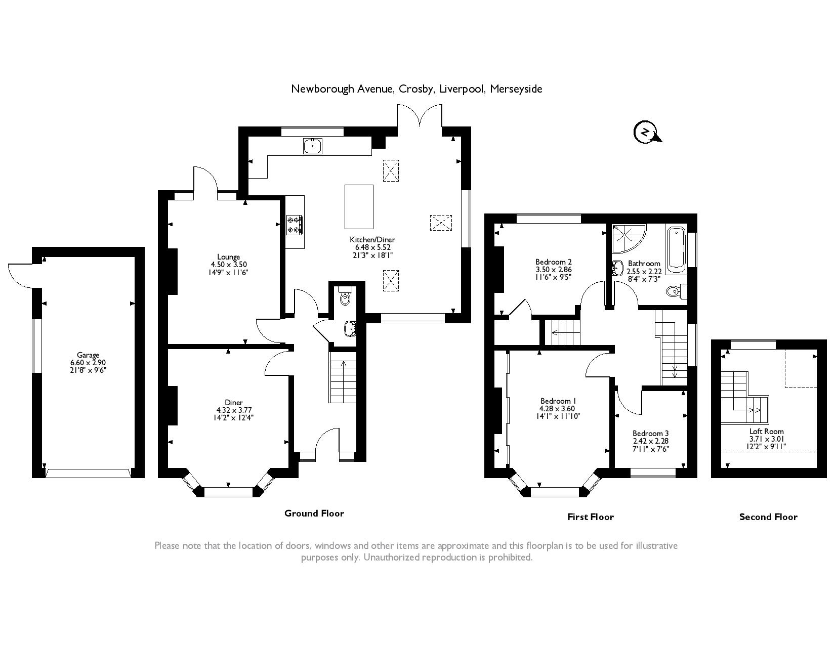 Newborough Avenue, Liverpool, L23 floor plan