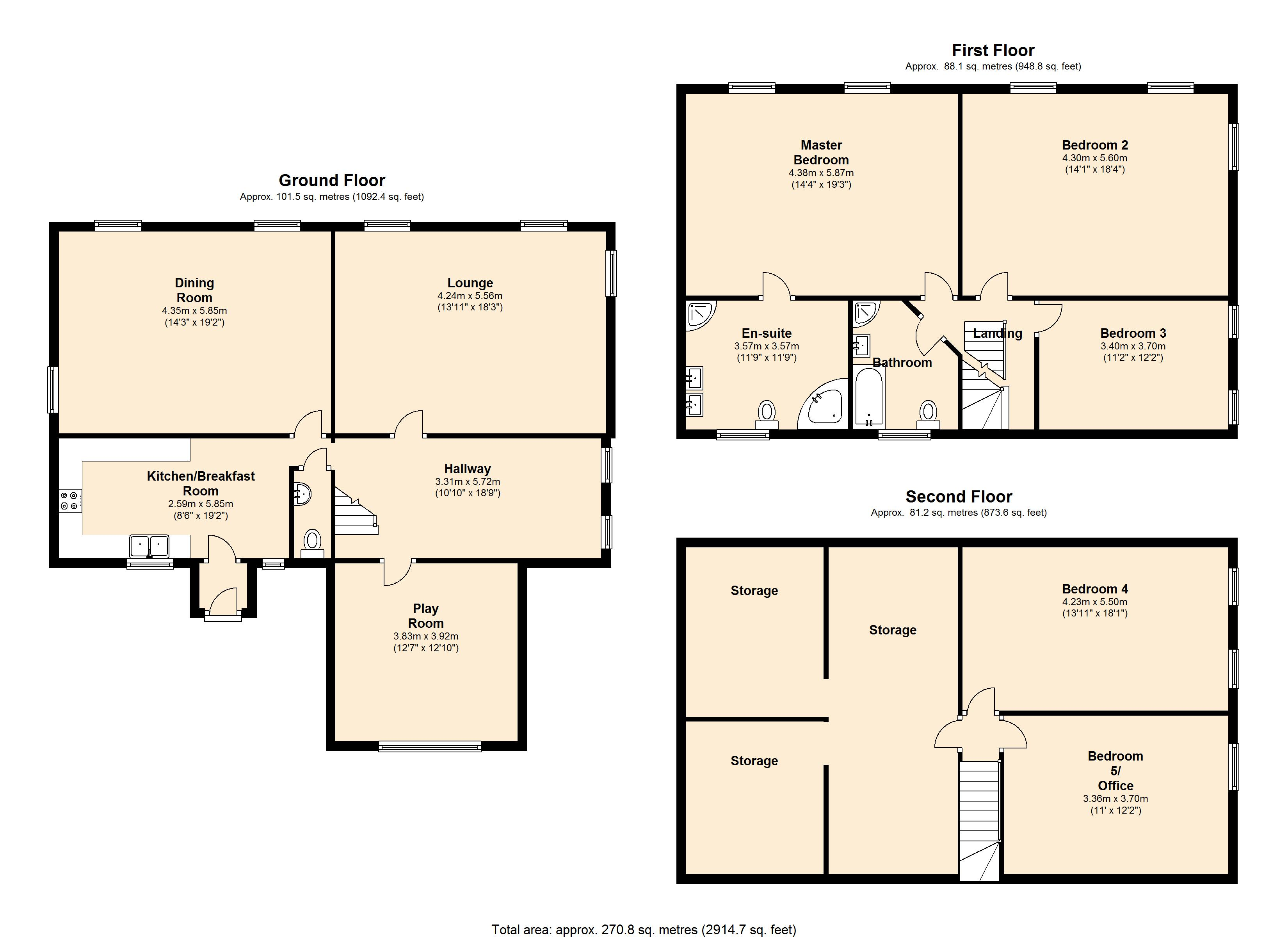 The Old Hall, Oldcoates Worksop floor plan