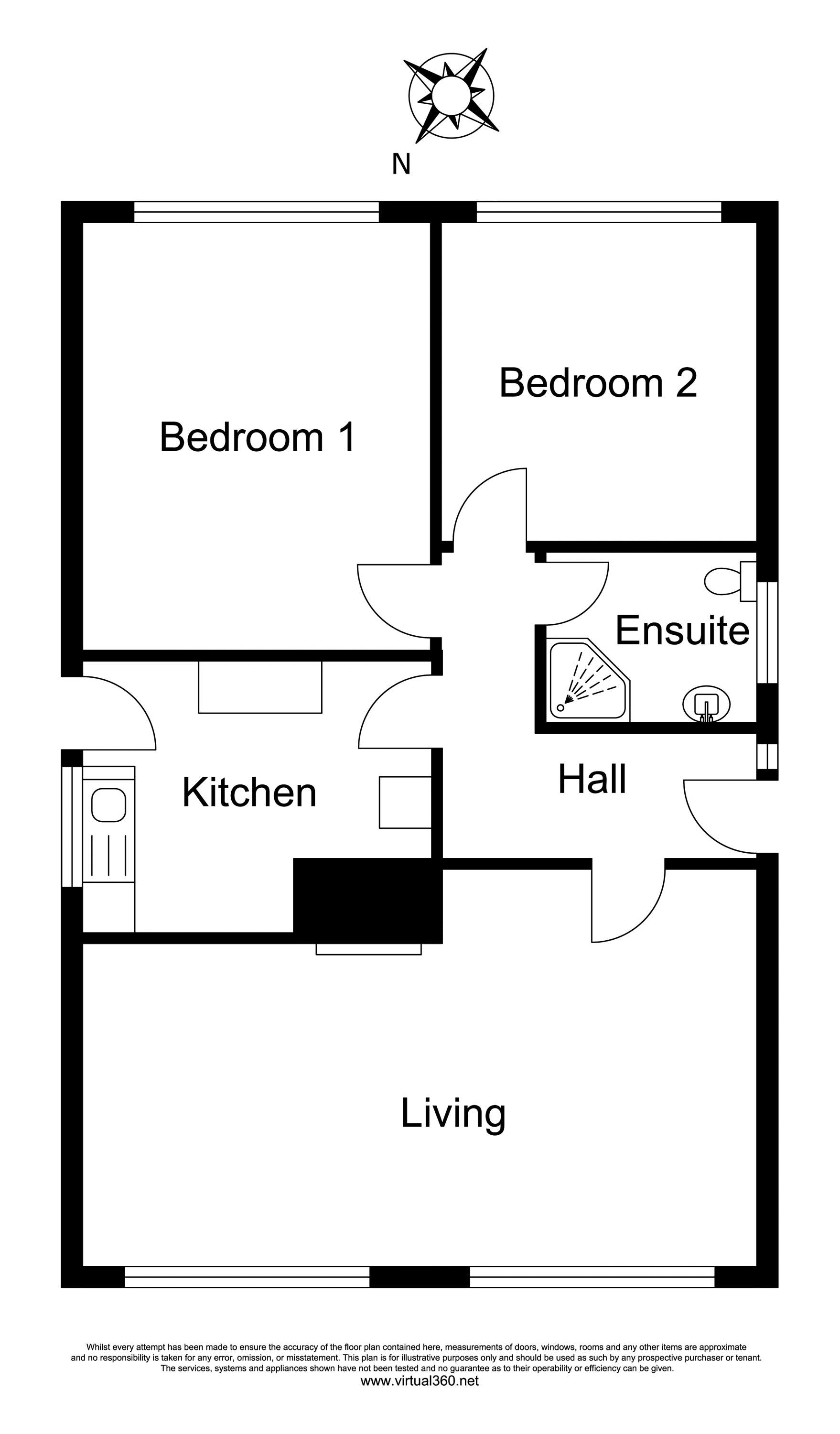 Anne Close, Blandford Forum floor plan