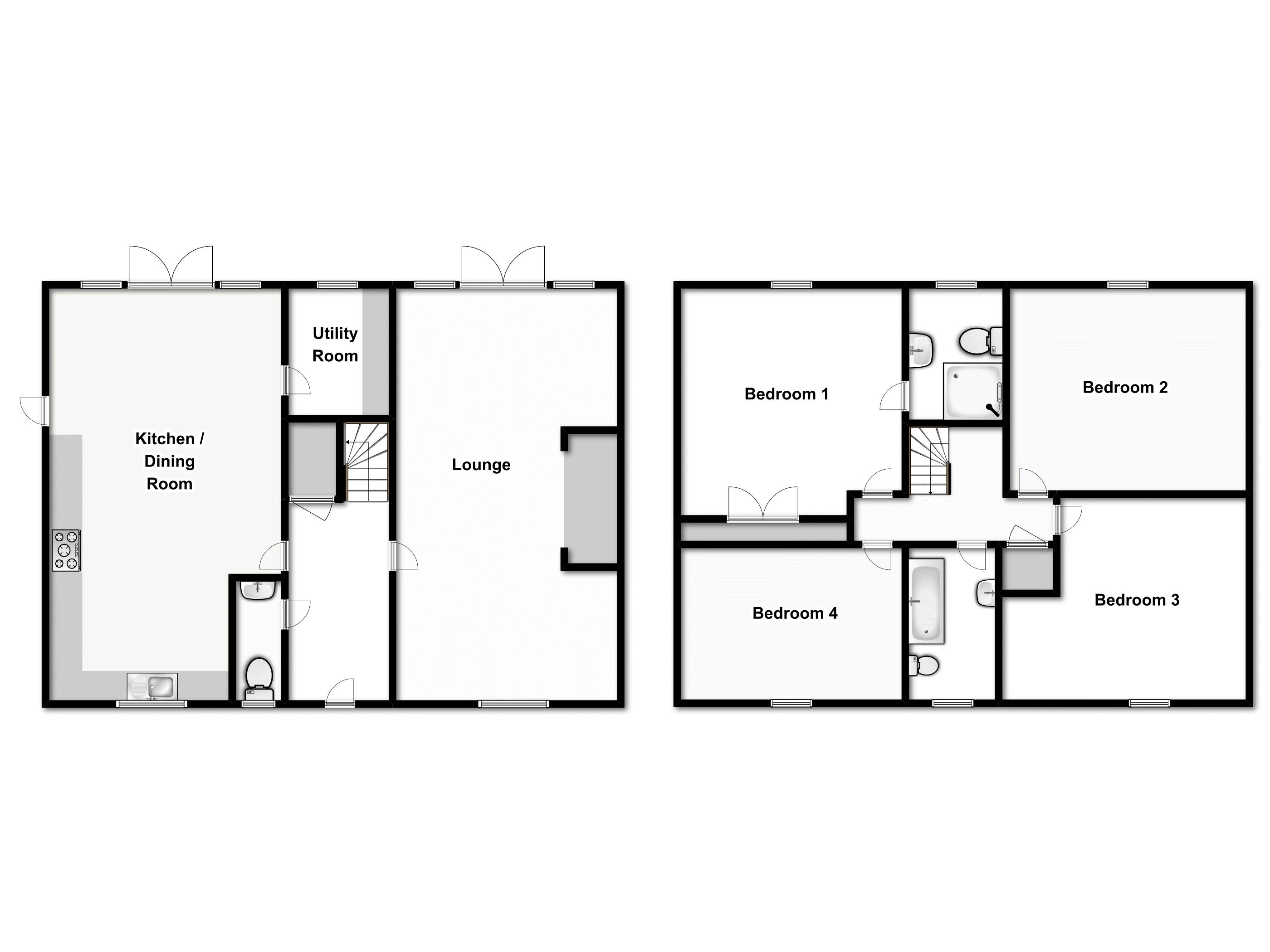 Mill Road, Battisford, Stowmarket floor plan