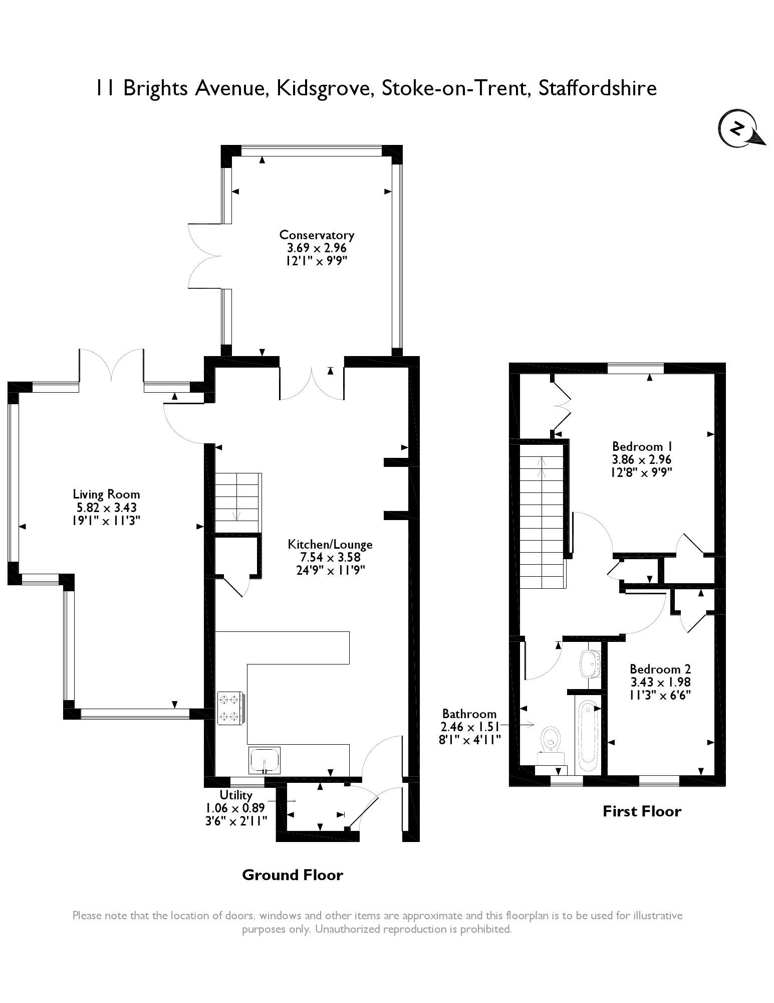 Brights Avenue, Stoke-on-trent floor plan