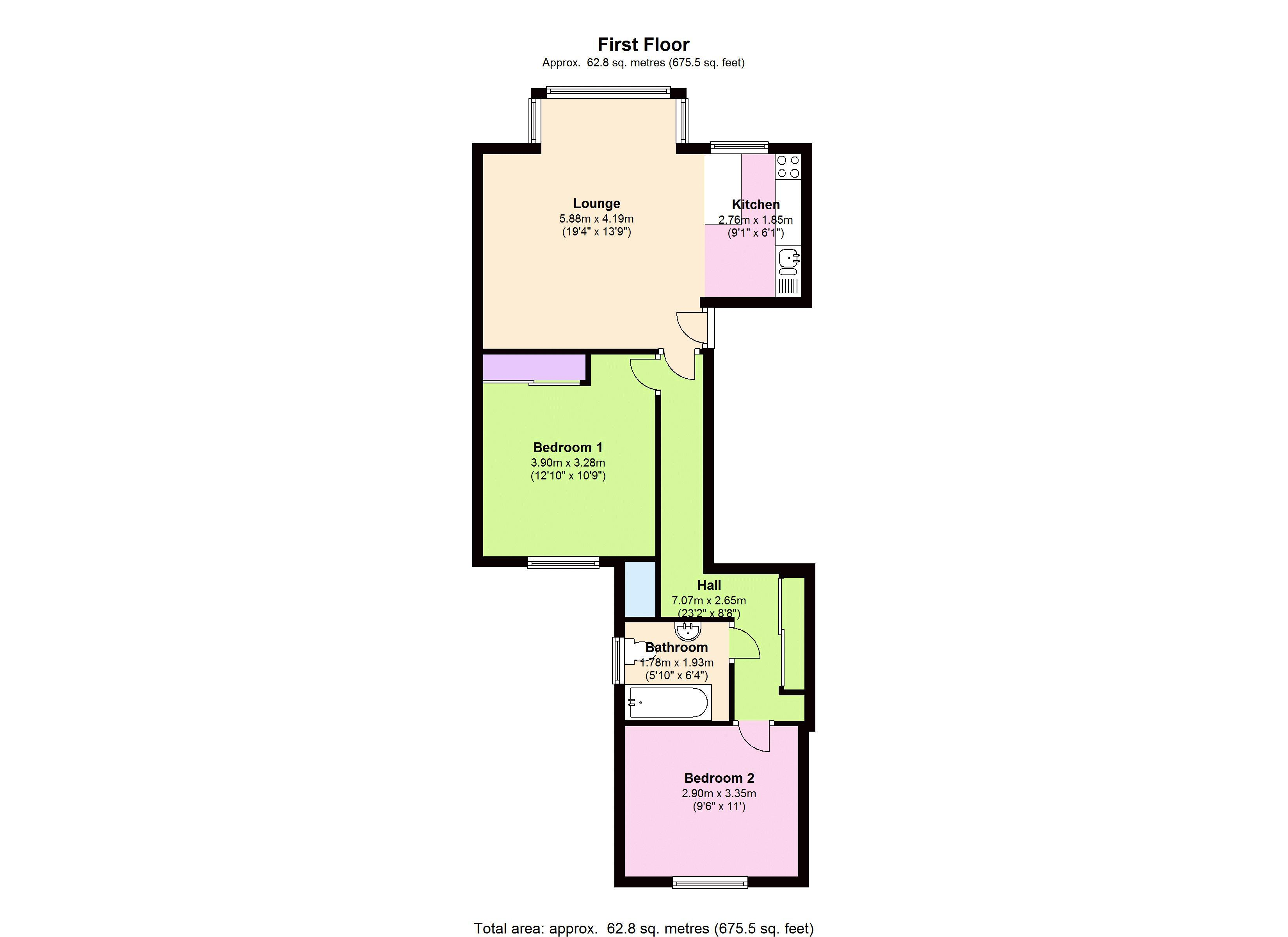 Knollys Road, London, SW16 floor plan