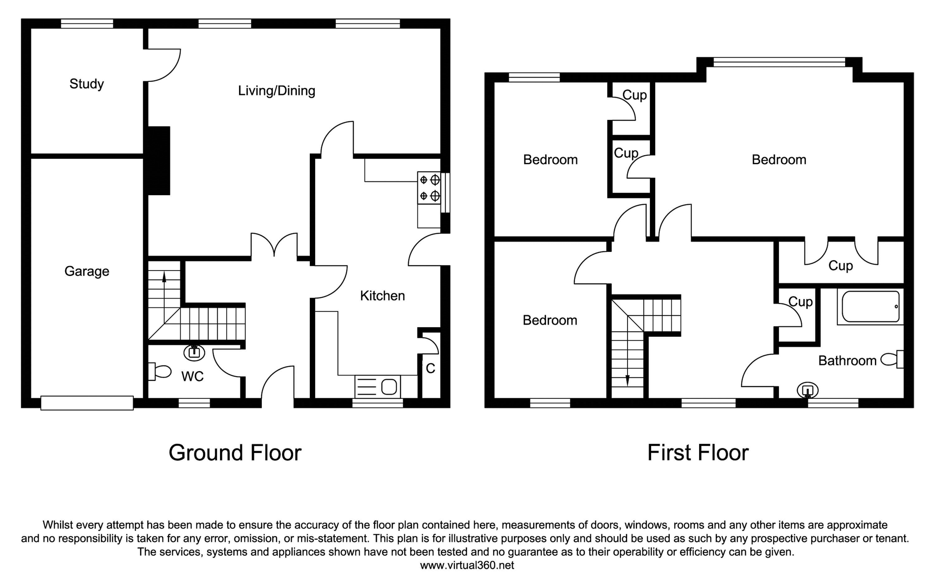 Hook End, Brentwood floor plan