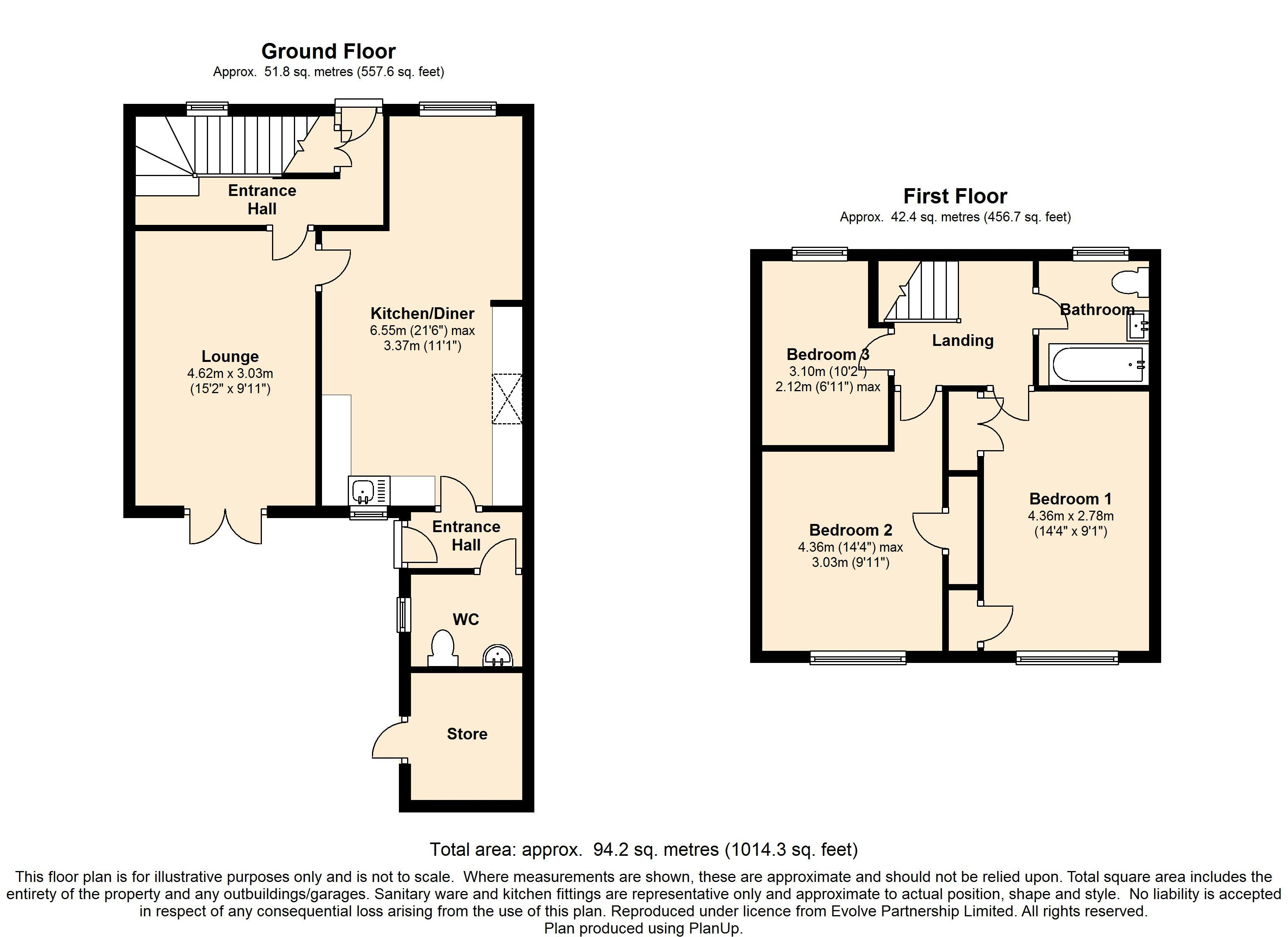 Manor Road, Bingley floor plan