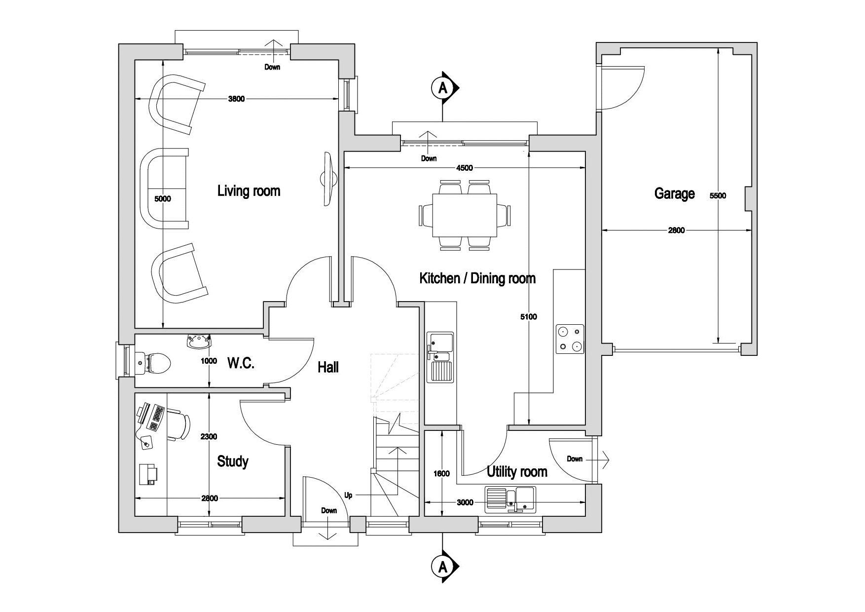 Coombe Cottage, Kentisbury floor plan