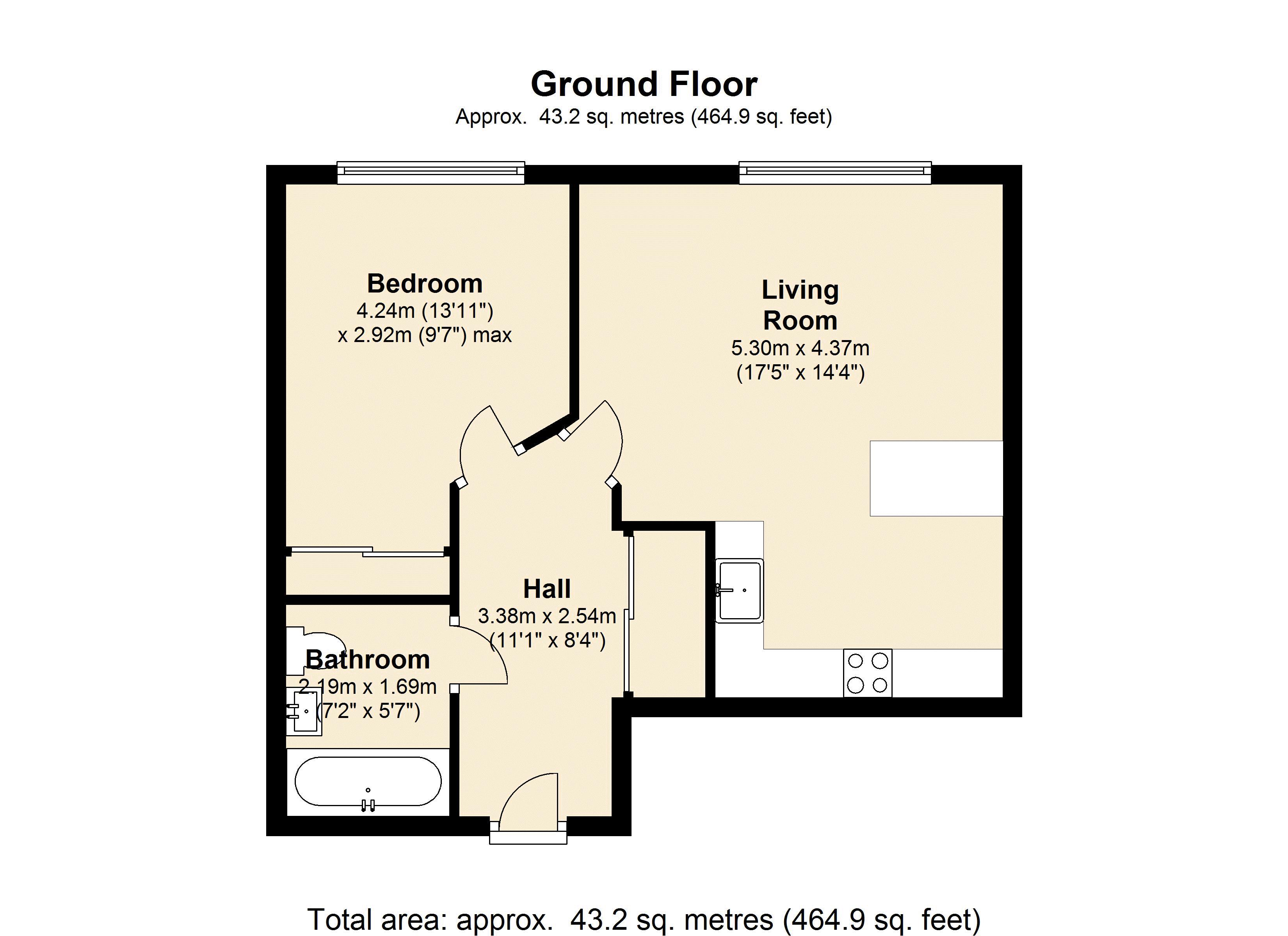Bromyard Avenue, London, W3 floor plan