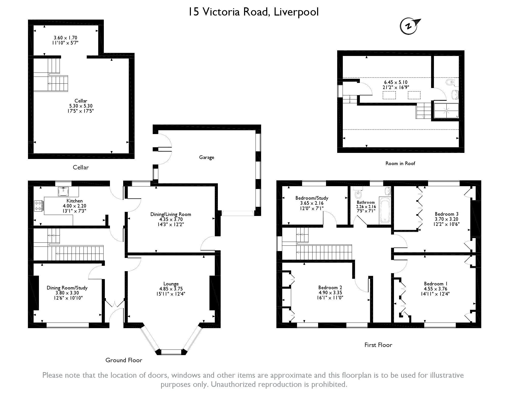 Victoria Road, Liverpool, L17 floor plan