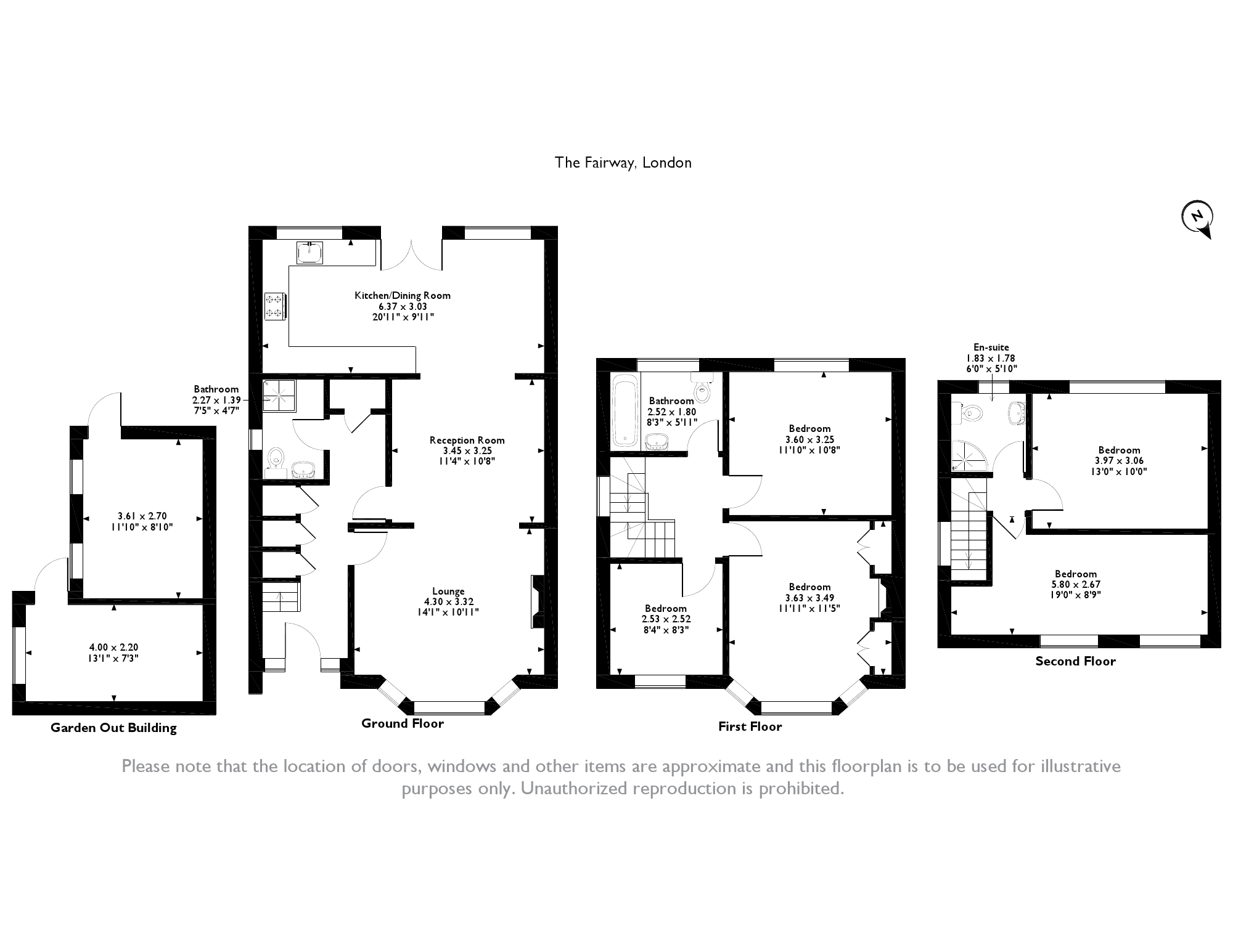 The Fairway, London, N14 floor plan