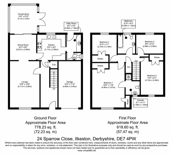 Sparrow Close, Ilkeston, DE7 floor plan