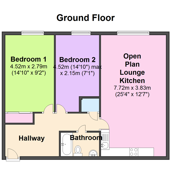 Kenway, Southend-on-sea, SS2 floor plan