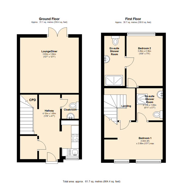 Middleton Grove, Dodworth, S75 floor plan