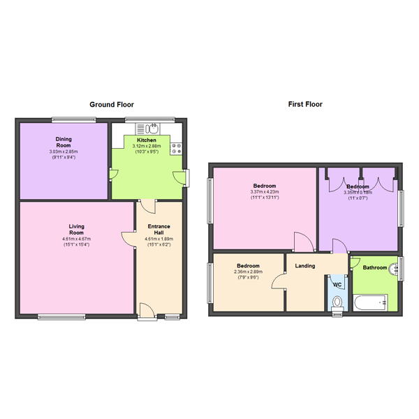 Thornhill Close, Wakefield, WF4 floor plan