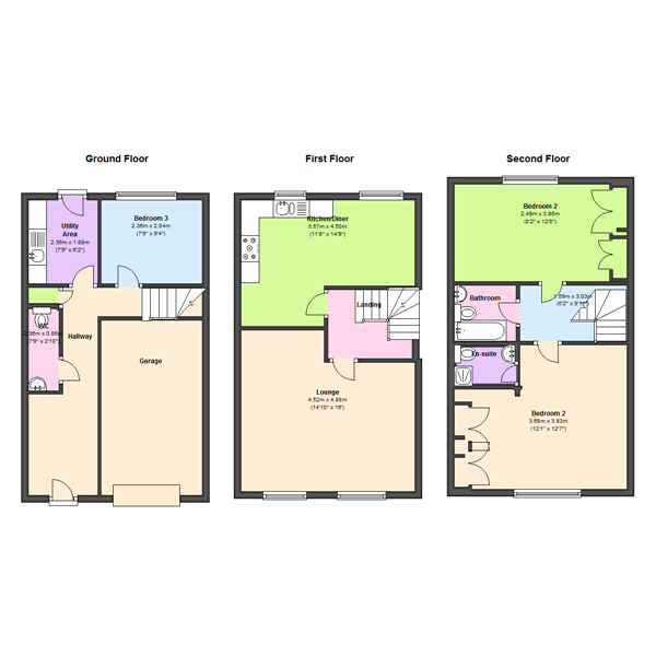 Castle Lodge Court, Leeds, LS26 floor plan