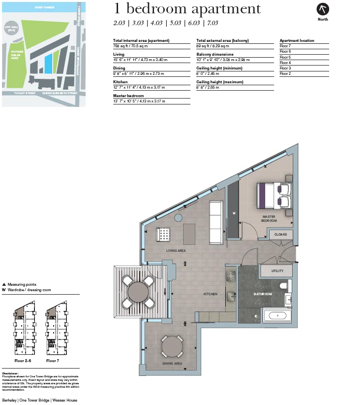 Wessex House, London, SE1 floor plan