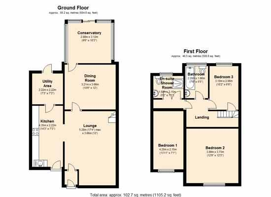 Highcroft Gardens, Keighley, BD21 floor plan