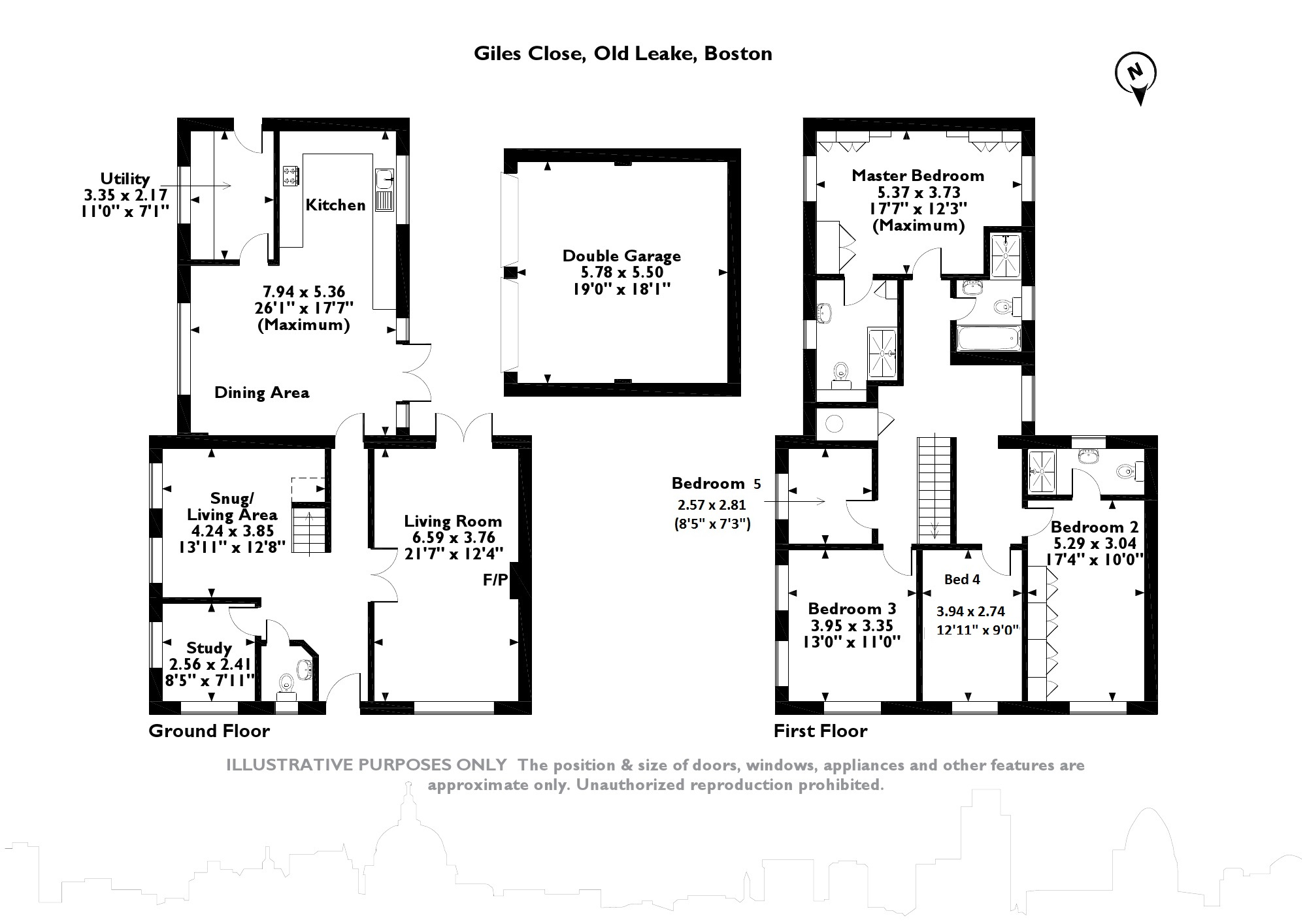 Giles Close, Old Leake, PE22 floor plan