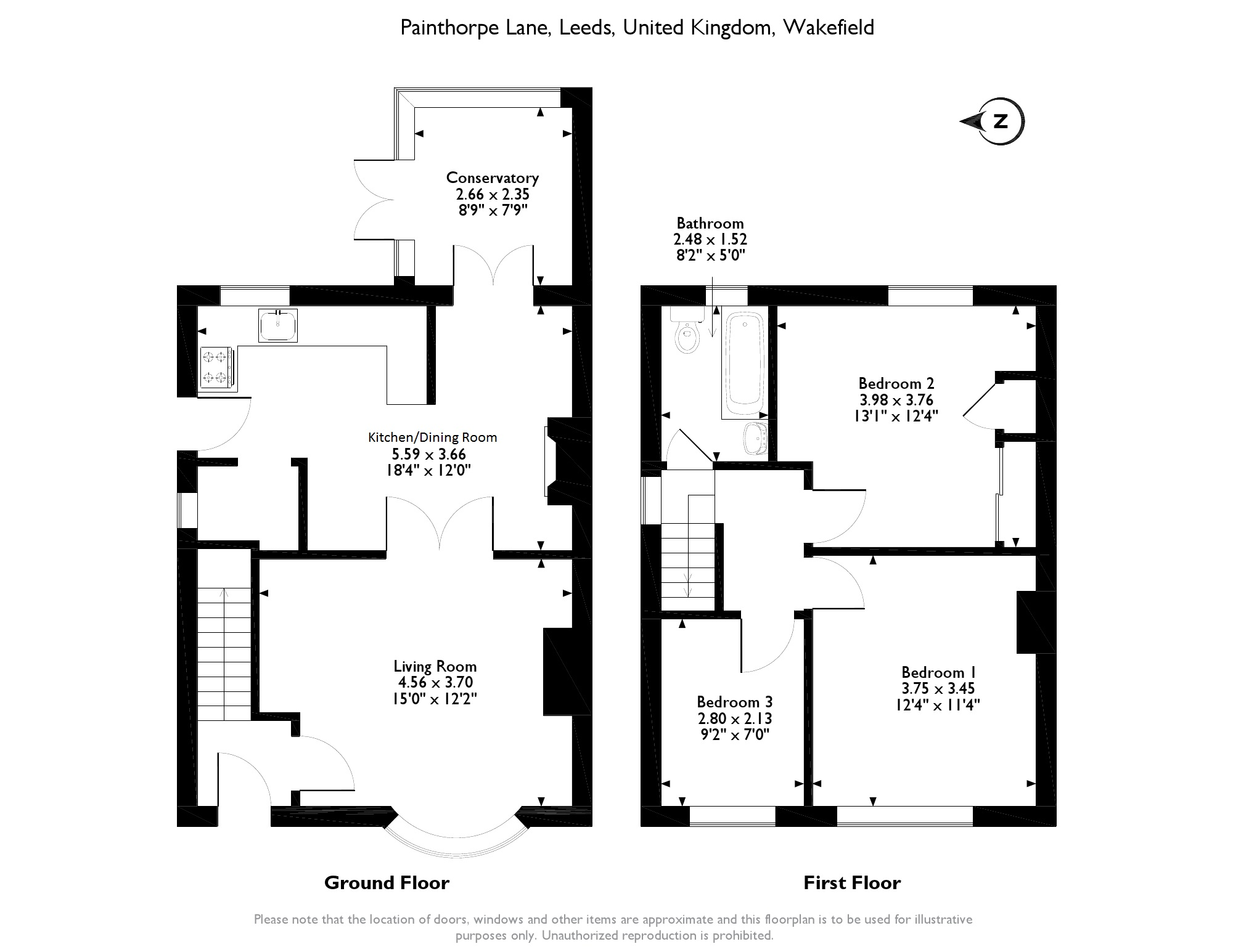 Painthorpe Lane, Hall green, Wakefield, WF4 floor plan