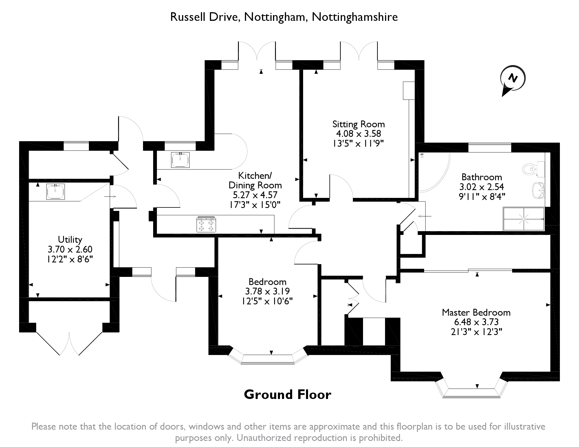 Russell Drive, Nottingham, NG8 floor plan
